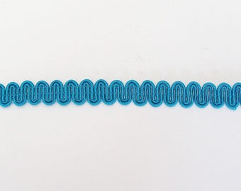 Serpentine turquoise lace height 8mm - ref B4 viscose/cotton blend