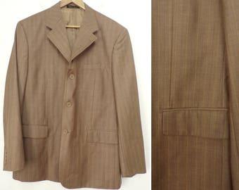 80s Light Brown Plaid Blazer Mens Size 44, Richard Harris, Brown Sport Coat, Plaid Sport Coat, Brown Plaid, Formal Blazer, 80s Blazer