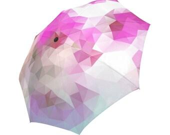 Pink Umbrella Magenta Umbrella Floral Designed Umbrella Geometric Umbrella Rainbow Umbrella Photo Umbrella Automatic Abstract Umbrella