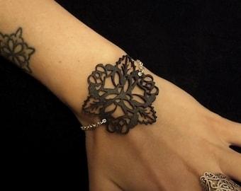 Mehndi Lace Tattoo : Tattoo lace bracelet etsy