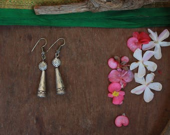 Boho geometric cone earrings
