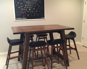 Pub Height, Bar Height, Counter Height Farmhouse Tables, Choose any of our styles for your pub height or counter height table