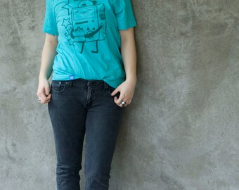 Let's Play Video Games - BMO Punk inspired shirt