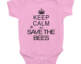Keep Calm & Save the Bees Infant Bodysuit