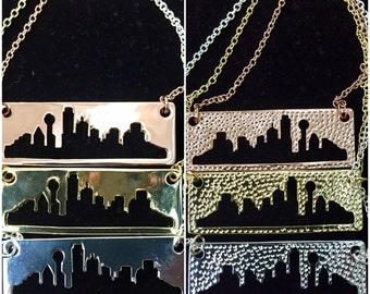 Dallas Skyline Bar Necklace
