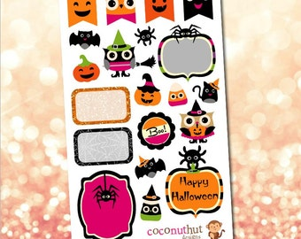 Halloween Theme Planner Stickers