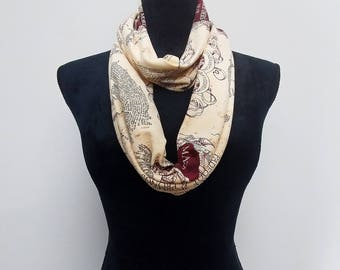 Harry potter scarf etsy harry potter infinity scarf marauders map circle scarf moony wormtail padfoot gumiabroncs Gallery