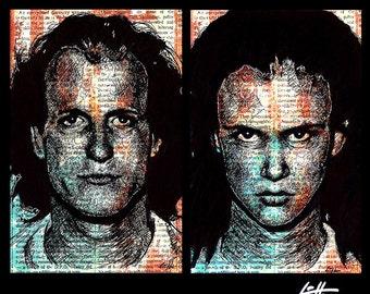 "Drucke 11 x 17""- Mickey und Mallory - Natural Born Killers Oliver Stone Quentin Tarantino Woody Harrelson Pop-Art Juliette Lewis Horror dunkel"