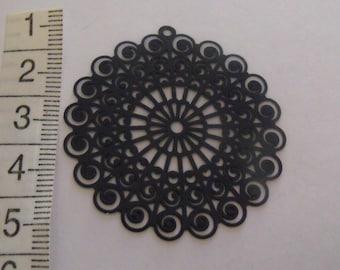 set of 2 prints round dark blue 42mm in diameter
