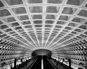 Washington DC Metro Photograph - City Photography - Washington DC - Fine Art Print - Wall Art Decor - Abstract Art // Metro Squares