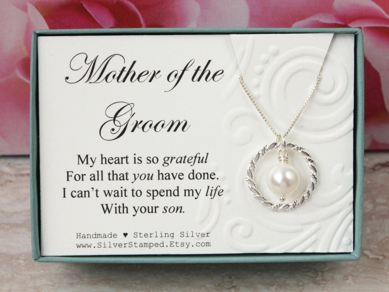 Future Mother In Law Gifts: Gift For Mother Of The Groom Gift From Bride Sterling Silver