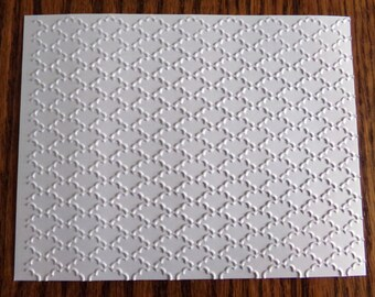 FANCY FAN Embossed Card Stock Panels Perfect for Scrapbooking and Card Making - Set of 12