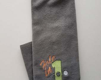 Hole in 1 Embroidered Golf Towel