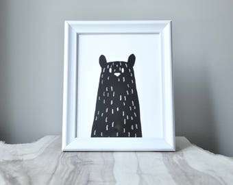 woodland series - black bear print