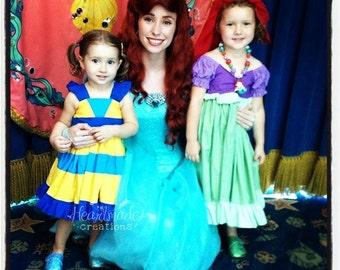 Flounder - Character Inspired Dress - Little Mermaid Friends - Sizes 12/18months through 8