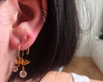 The Cherry 14K Gold Hoops