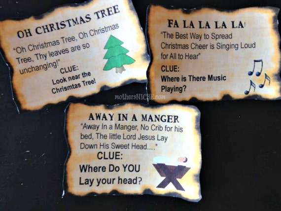 Printable Birthday Scavenger Hunt Clues ~ Free mall scavenger hunt riddles