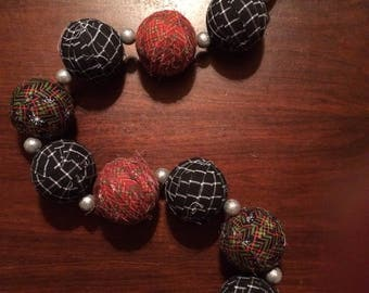 "3"" rag ball garland"