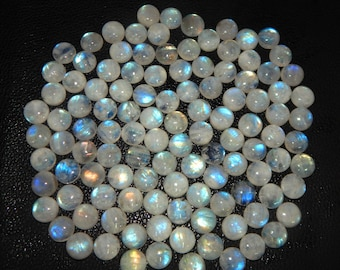 AAA qty 70 ct approxx 12 mm 10 piece RAINBOW MOONSTONE full blue fire Cellibrated round Smooth Cabochon cab jewelry semi precious gemstone