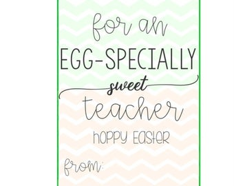 Easter tags easter gift tags easter printable tags eggspecially sweet teacher tag easter tags easter gift tags easter printable tags hoppy easter digital easter bunny tag negle Image collections