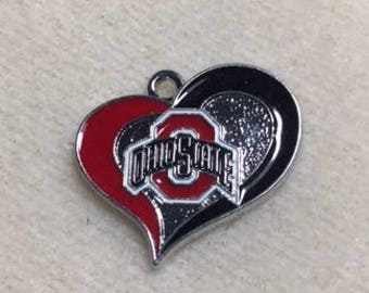 Ohio State Buckeyes Heart Charms
