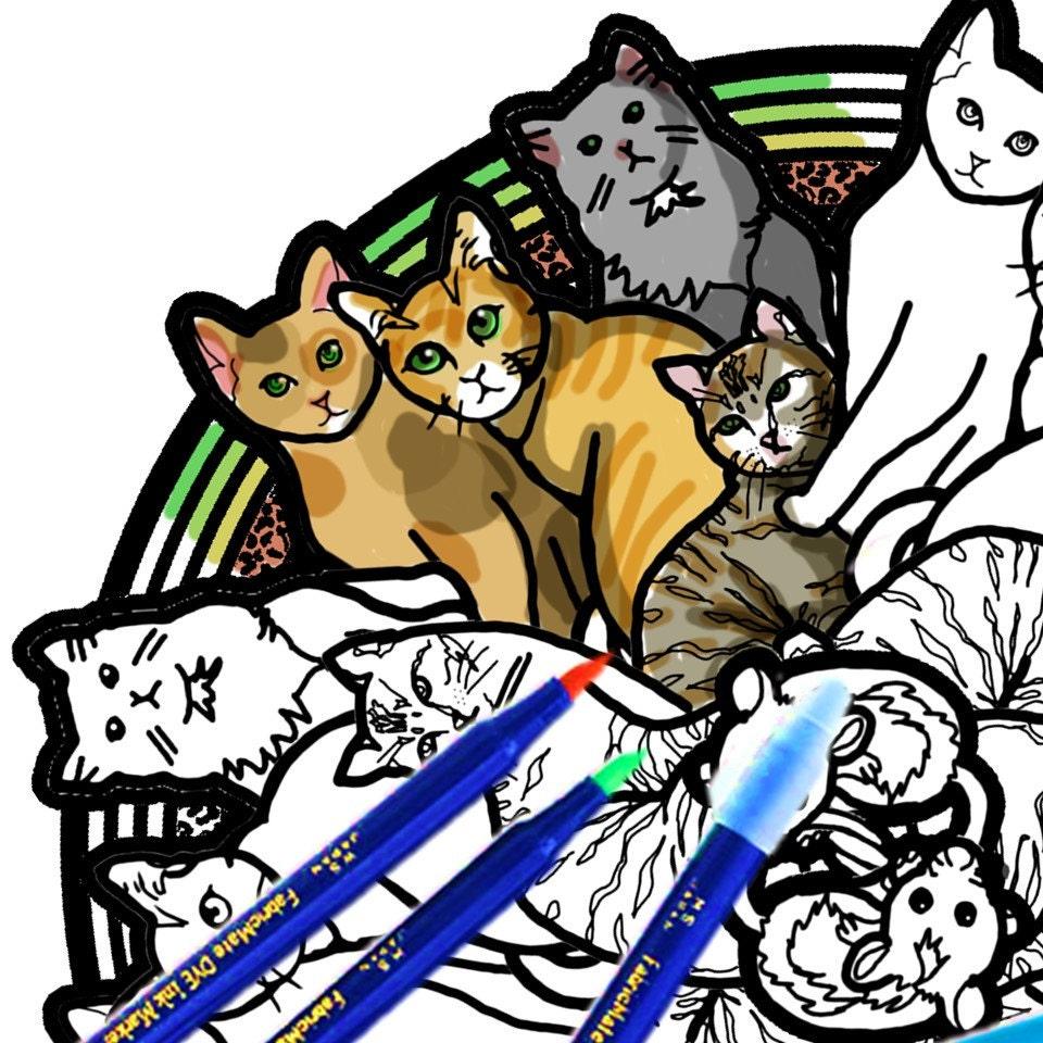 de gato para colorear descargar Imprimir página