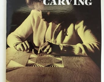 Frank Manning Creative Chip Carving 1980s Edition by Dover Publications, Paperback Edition, Woodworking