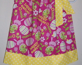 12m Easter Dress size 12 months Pillowcase Dress Happy Easter Spring Dresses for baby Easter Outfit Baby's First Easter Ready to Ship