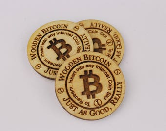 50 Wooden Bitcoin Just as Good, Really