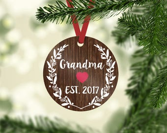 grandma ornament / Christmas ornament / custom ornament / ornament / grandma gift / personalized / grandma Christmas / grandparent ornament