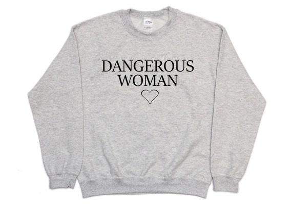 Dangerous Woman Ariana Heather Grey Sweater by Etsy