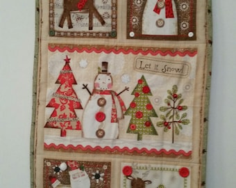 Let It Snow Christmas Wallhanging