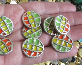 geometric buttons set of 4