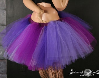 Adult tutu skirt Purple Desire Extra puffy purple dance goth gogo dance club wear rave bridal --  You Choose Size -- Sisters of the Moon