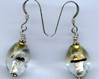 Silver and Gold Sterling Silver Earrings
