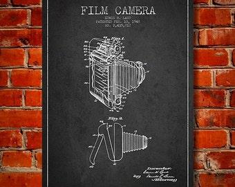 1948 Film Camera Patent, Canvas Print, Wall Art, Home Decor, Gift Idea