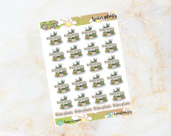 WATER PLANTS - Planner Stickers