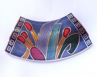 Large Cloisonne Enamel Tube Pendant
