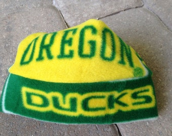 Oregon Ducks Fleece Hat Sizes Newborn Baby to Adults