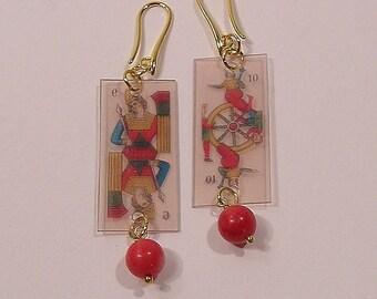 Games, the Tarot (transparent), earrings pendants Lightweight