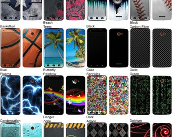 Choose Any 2 Designs - Vinyl Skins / Decals / Stickers for HTC Droid DNA 4G - Android Smartphone