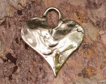 Artisan Heart in Sterling Silver Pendant Charm, PX-241