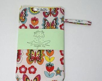 Brolly bag, wet bag, umbrella bag, small waterproof, butterfly, flowers