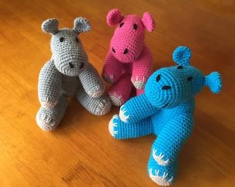 Handmade Hippo Toy