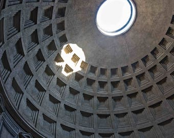Pantheon Oculus Rome Italy Dome Photography