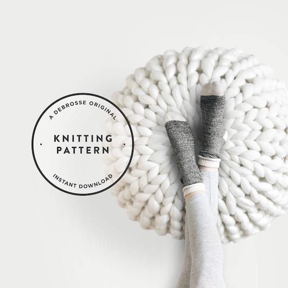 KNITTING PATTERN Extreme Knit Pouf The Petionville