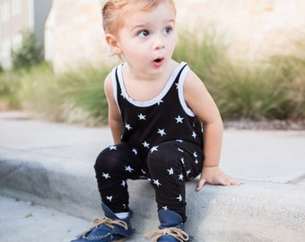 Black & White Star Romper