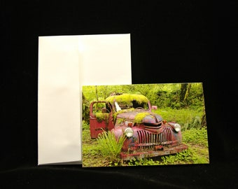 Blank Notecards 4 x 6 The Old Red Fire Truck