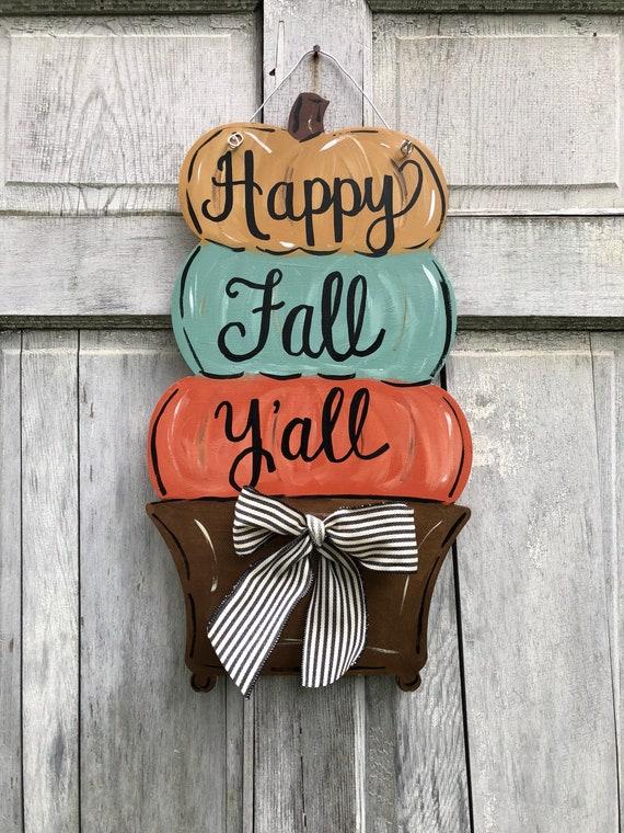 Pumpkin topiary Door hanger, autumn door hanger, stacked pumpkin topiary door hanger, pumpkin door hanger, fall door hanger