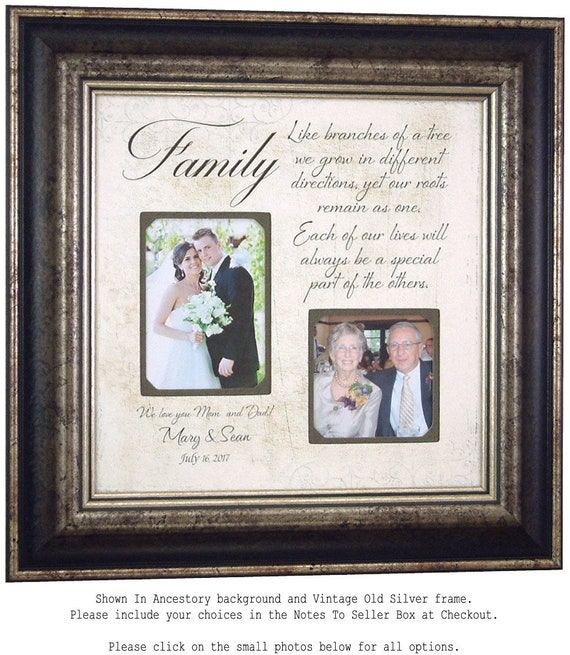 Wedding Photo Frame Parents Wedding Gift Mother of the Bride